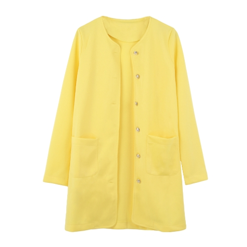 Casual Single-Breasted Pockets Long Sleeve Candy Color Oversized CoatApparel &amp; Jewelry<br>Casual Single-Breasted Pockets Long Sleeve Candy Color Oversized Coat<br>