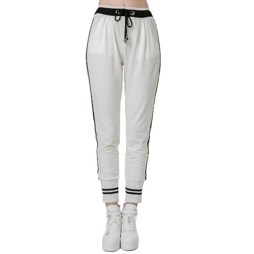 Casual Woman Stripes Elastic Waistband Drawstring Yoga Sport Harem PantsApparel &amp; Jewelry<br>Casual Woman Stripes Elastic Waistband Drawstring Yoga Sport Harem Pants<br>