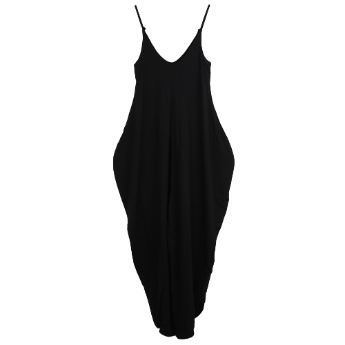 New Sexy Women Jumpsuits Deep V Neck Open Back Sleeveless Irregular Baggy Legs Large Size Rompers PlaysuitsApparel &amp; Jewelry<br>New Sexy Women Jumpsuits Deep V Neck Open Back Sleeveless Irregular Baggy Legs Large Size Rompers Playsuits<br>