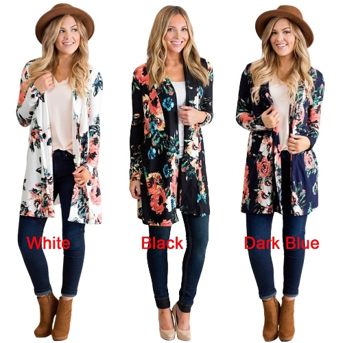 Women Kimono Cardigan Floral Print Bikini Cover Up Boho Long Loose Casual Beach Robe Blouse TopApparel &amp; Jewelry<br>Women Kimono Cardigan Floral Print Bikini Cover Up Boho Long Loose Casual Beach Robe Blouse Top<br>