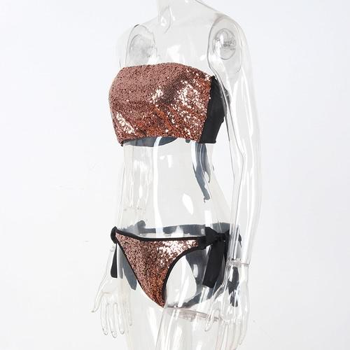 Sexy Women Bling Sequins Bikini Set Sunbathing Swimwear Push Up Shiny Bathing Suit SwimsuitApparel &amp; Jewelry<br>Sexy Women Bling Sequins Bikini Set Sunbathing Swimwear Push Up Shiny Bathing Suit Swimsuit<br>