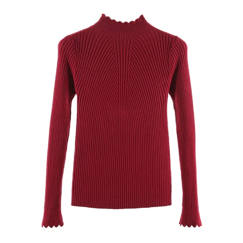 Fashion Women Turtleneck Long Sleeve Ruffled Knitting Sweater Solid Basic Pullover Slim Fit Knitwear Jumper TopsApparel &amp; Jewelry<br>Fashion Women Turtleneck Long Sleeve Ruffled Knitting Sweater Solid Basic Pullover Slim Fit Knitwear Jumper Tops<br>