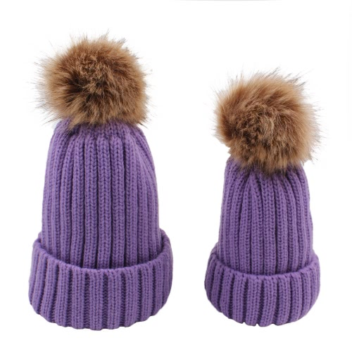 Women Thickening Knitted Beanies Hat Dome Autumn Winter Cap Warm Hat Headwear With Ball Of FluffApparel &amp; Jewelry<br>Women Thickening Knitted Beanies Hat Dome Autumn Winter Cap Warm Hat Headwear With Ball Of Fluff<br>