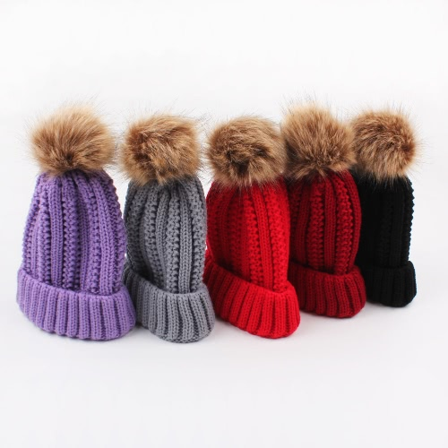 Women Winter Hat Knit Beanie Skullies Pom Pom Causal Warm Outdoor Thick Female CapApparel &amp; Jewelry<br>Women Winter Hat Knit Beanie Skullies Pom Pom Causal Warm Outdoor Thick Female Cap<br>