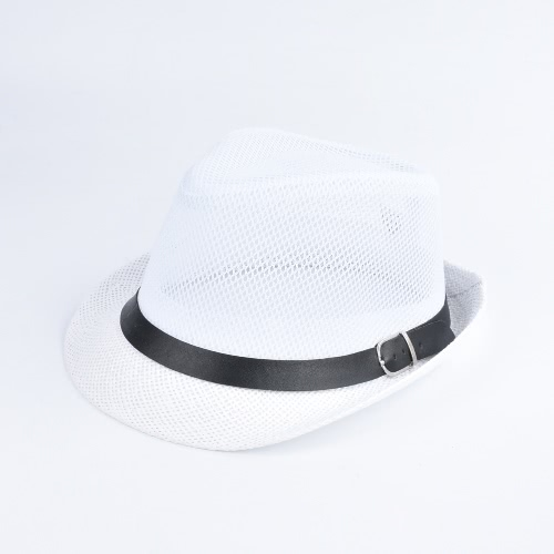 Fashion Unisex Sun Hat Straw Hat Solid Hollow Out Metal Belt Summer Sunbonnet Trilby Fedora Beach Panama HatApparel &amp; Jewelry<br>Fashion Unisex Sun Hat Straw Hat Solid Hollow Out Metal Belt Summer Sunbonnet Trilby Fedora Beach Panama Hat<br>