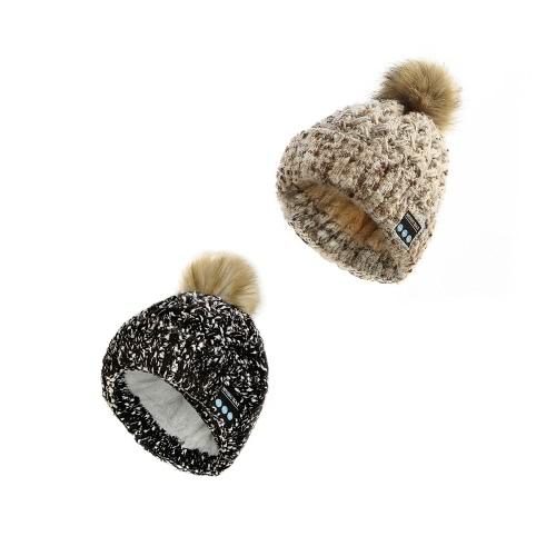 Wireless Bluetooth Women Warm Knitted Beanie Pompon HatApparel &amp; Jewelry<br>Wireless Bluetooth Women Warm Knitted Beanie Pompon Hat<br>