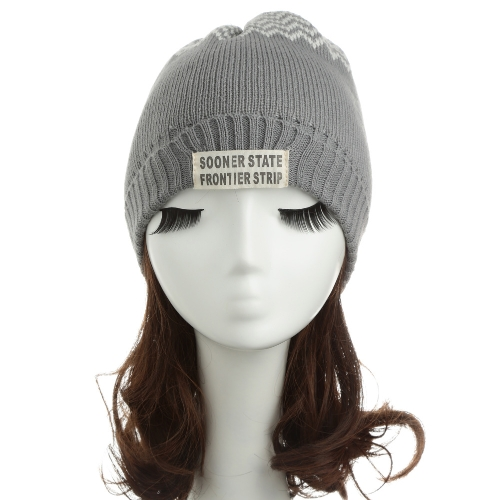 New Women Men Knitted Beanie Hat Letter Wave Stripe Round Top Turn-up Warm Dance CapApparel &amp; Jewelry<br>New Women Men Knitted Beanie Hat Letter Wave Stripe Round Top Turn-up Warm Dance Cap<br>