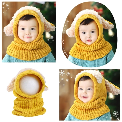 Cute Winter Kintted Hat Ear Puppy Caps Unisex Toddlers Babies Scarf Coif Hood One-Piece Warm Children GiftsApparel &amp; Jewelry<br>Cute Winter Kintted Hat Ear Puppy Caps Unisex Toddlers Babies Scarf Coif Hood One-Piece Warm Children Gifts<br>