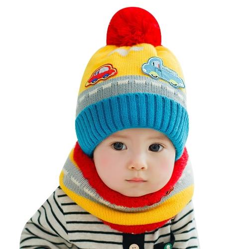 New Cute Baby Girl Boy Knitted Hat Scarf Set Car Pattern Fleece Warm Cap Neck Warmer Two-Piece SetApparel &amp; Jewelry<br>New Cute Baby Girl Boy Knitted Hat Scarf Set Car Pattern Fleece Warm Cap Neck Warmer Two-Piece Set<br>
