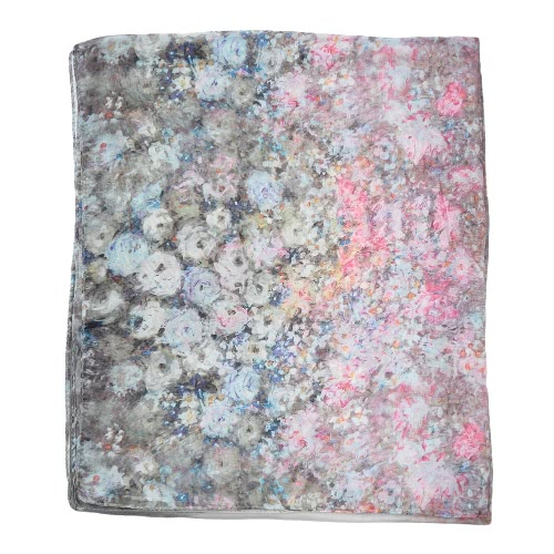 New Vintage Women Chiffon Scarf Floral Print Contrast Color Long Thin Shawl PashminaApparel &amp; Jewelry<br>New Vintage Women Chiffon Scarf Floral Print Contrast Color Long Thin Shawl Pashmina<br>