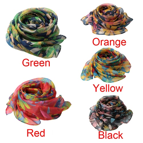 New Fashion Women Chiffon Scarf Special Print Contrast Color Long Thin Shawl PashminaApparel &amp; Jewelry<br>New Fashion Women Chiffon Scarf Special Print Contrast Color Long Thin Shawl Pashmina<br>
