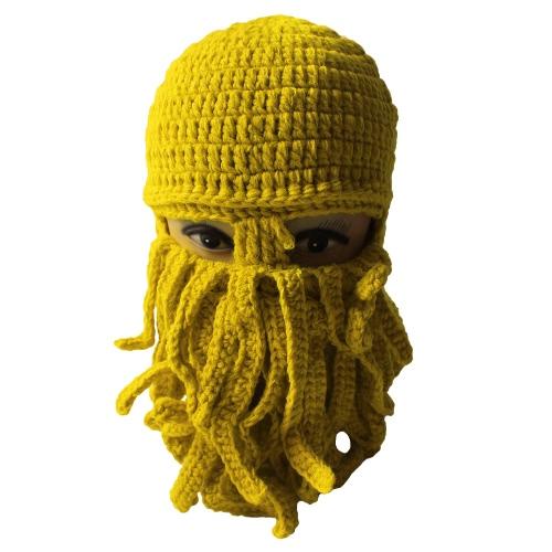 Winter Unisex Beanie Funny Tentacle Octopus Warm Knit Hat Wind-Proof MaskApparel &amp; Jewelry<br>Winter Unisex Beanie Funny Tentacle Octopus Warm Knit Hat Wind-Proof Mask<br>