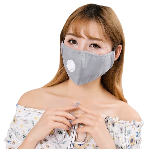 New Unisex Men Women Anti-Pollution Mask Exhaust Valve Strap Filter Nose Clip Foldable Cold-Weather Earloop Trendy MaskApparel &amp; Jewelry<br>New Unisex Men Women Anti-Pollution Mask Exhaust Valve Strap Filter Nose Clip Foldable Cold-Weather Earloop Trendy Mask<br>