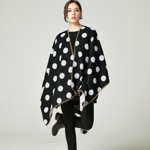 Winter Women Poncho Sweater Oversized Knitted Dot Cloak Shawl Loose Outwear Coat Cape CardiganApparel &amp; Jewelry<br>Winter Women Poncho Sweater Oversized Knitted Dot Cloak Shawl Loose Outwear Coat Cape Cardigan<br>