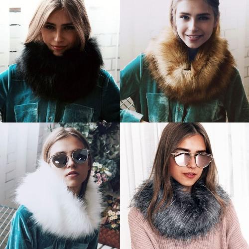 New Winter Women Faux Fur Neckerchief Solid Warm Soft Neck Collar Short Scarf Luxury ScarvesApparel &amp; Jewelry<br>New Winter Women Faux Fur Neckerchief Solid Warm Soft Neck Collar Short Scarf Luxury Scarves<br>