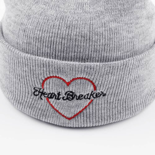 Embroidery Winter Hat Soft Solid Beanie Unisex Men Women HipHop Warm Knitted Cap Headwear GreyApparel &amp; Jewelry<br>Embroidery Winter Hat Soft Solid Beanie Unisex Men Women HipHop Warm Knitted Cap Headwear Grey<br>
