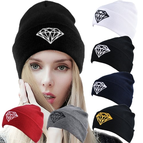 Unisex Women Men Knitted Hat Diamond Ribbed Slouchy Baggy Casual Sport Warm Winter Kullies BeaniesApparel &amp; Jewelry<br>Unisex Women Men Knitted Hat Diamond Ribbed Slouchy Baggy Casual Sport Warm Winter Kullies Beanies<br>
