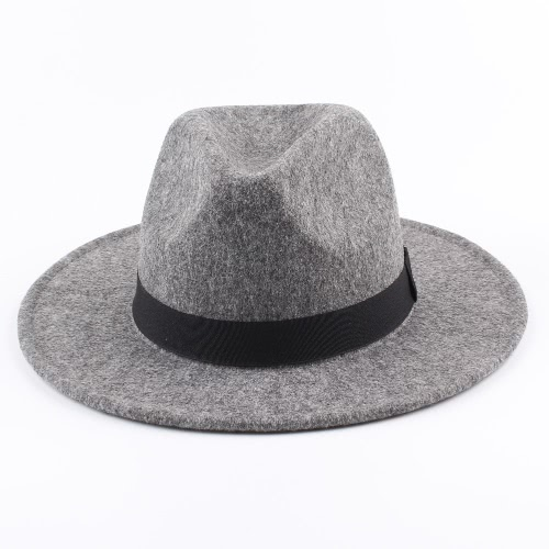 Women Men Unisex Felt Trilby Hats Wide Brim Adjustable Fedora Jazz Hat CapsApparel &amp; Jewelry<br>Women Men Unisex Felt Trilby Hats Wide Brim Adjustable Fedora Jazz Hat Caps<br>