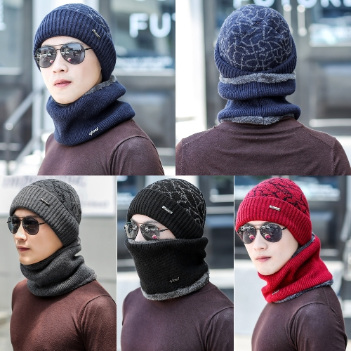 Men Knitted Gaiter Autumn Winter Ring Scarf Neck Collar Loop Fur Ribbed Warm HeadwearApparel &amp; Jewelry<br>Men Knitted Gaiter Autumn Winter Ring Scarf Neck Collar Loop Fur Ribbed Warm Headwear<br>
