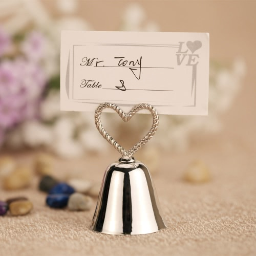 10pcs Lovely Heart Bell Place Card Holders Table Mark Cards for Wedding Banquet DecorationHome &amp; Garden<br>10pcs Lovely Heart Bell Place Card Holders Table Mark Cards for Wedding Banquet Decoration<br>