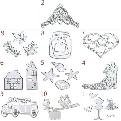 Metal Carbon Steel Template Embossing Cutting Dies Stencil Scrapbooking Album Decorative DIY Craft Paper Card DecorHome &amp; Garden<br>Metal Carbon Steel Template Embossing Cutting Dies Stencil Scrapbooking Album Decorative DIY Craft Paper Card Decor<br>