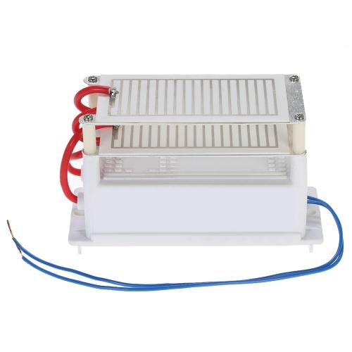 AC110V Портативный генератор озона 10g двойной Встроенная Long Life керамические пластины Озонатор очиститель воздуха Вспомогательное оборудование