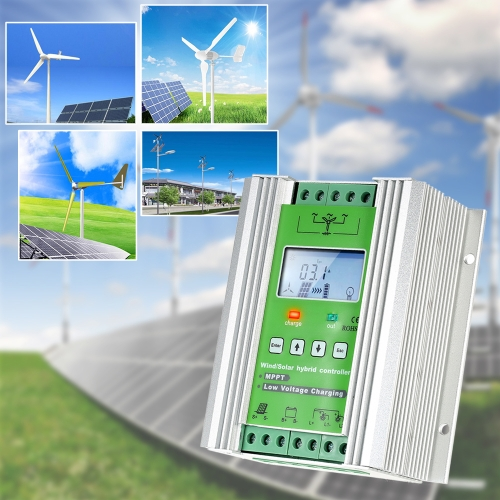 LCD Wind Solar Hybrid Charge Controller MPPT Boost Charge 12/24V Auto Lighting Street Lamp Charging Controller 300W WindHome &amp; Garden<br>LCD Wind Solar Hybrid Charge Controller MPPT Boost Charge 12/24V Auto Lighting Street Lamp Charging Controller 300W Wind<br>
