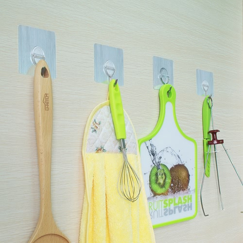 4pcs 11lb/5kg(Max) Reusable Removable Wall Hooks No Scratch Towel Hook Waterproof and Oilproof Bathroom Kitchen Hanging RackHome &amp; Garden<br>4pcs 11lb/5kg(Max) Reusable Removable Wall Hooks No Scratch Towel Hook Waterproof and Oilproof Bathroom Kitchen Hanging Rack<br>