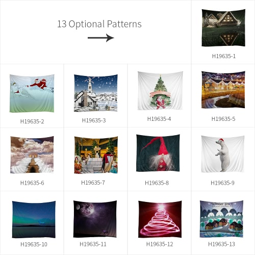 150 * 130cm Christmas Printed Art Tapestry Soft Polyester Wall Hanging Tapestry Christmas Decorations for Living Room BedroomHome &amp; Garden<br>150 * 130cm Christmas Printed Art Tapestry Soft Polyester Wall Hanging Tapestry Christmas Decorations for Living Room Bedroom<br>