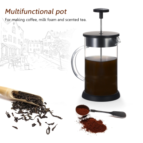 32oz French Press Pot Cafetiere Coffee Cup Tea Filter Borosilicate Glass Beaker CarafeHome &amp; Garden<br>32oz French Press Pot Cafetiere Coffee Cup Tea Filter Borosilicate Glass Beaker Carafe<br>
