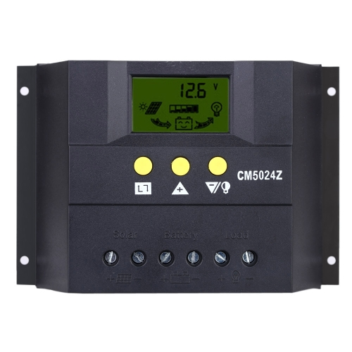 30A 12V/24V Solar Charge Controller PWM Charging LCD Display Auto Regulator Battery System for Street Lighting Temperature CompensHome &amp; Garden<br>30A 12V/24V Solar Charge Controller PWM Charging LCD Display Auto Regulator Battery System for Street Lighting Temperature Compens<br>