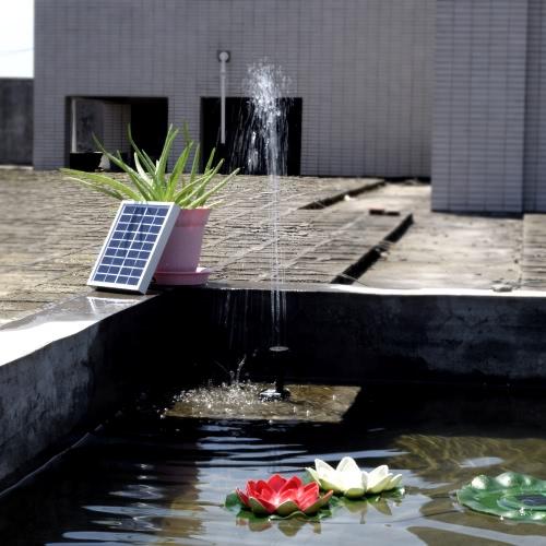 Petit Type paysage piscine jardin fontaines 9V 2W puissance solaire pompe à eau fontaine décorative