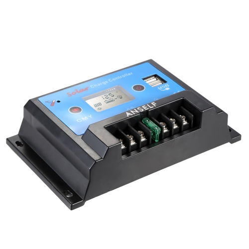 Anself Intelligent 20A 12V/24V LCD Solar Charge Controller Auto Regulator PWM Charging USB Output Solar Panel Battery Overload ProHome &amp; Garden<br>Anself Intelligent 20A 12V/24V LCD Solar Charge Controller Auto Regulator PWM Charging USB Output Solar Panel Battery Overload Pro<br>