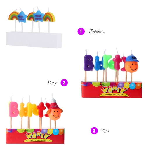 Douself Lovely Cartoon Birthday Cake Candles Happy Birthday Colorful Party Baking Decorations SupplyHome &amp; Garden<br>Douself Lovely Cartoon Birthday Cake Candles Happy Birthday Colorful Party Baking Decorations Supply<br>