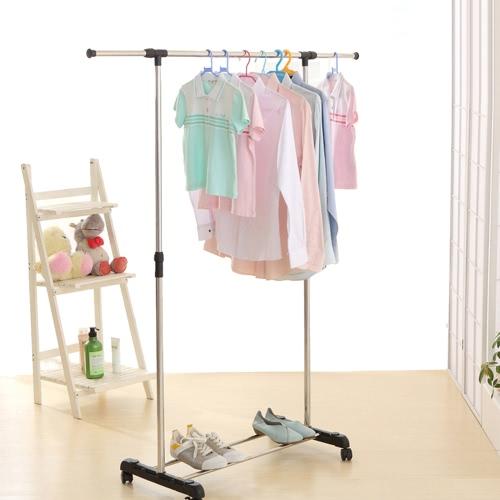 إكايا المعادن ارتفاع تعديل معطف الملابس الملابس شنقا رف عرض للتمديد الثقيلة الملابس عرض منظم الأحذية الرف