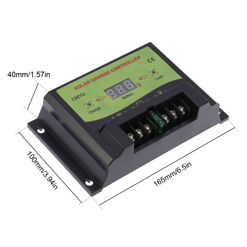 Anself 10A 12/24V Automatic Intelligent Solar Charge Controller PWM Charging Panel Battery Regulator Temperature CompensationHome &amp; Garden<br>Anself 10A 12/24V Automatic Intelligent Solar Charge Controller PWM Charging Panel Battery Regulator Temperature Compensation<br>