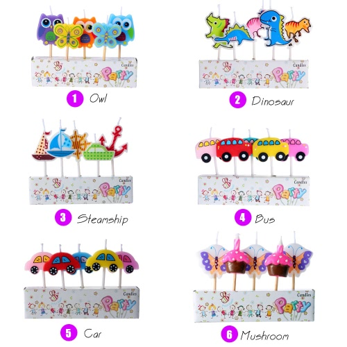 Douself 5pcs Lovely Cartoon Birthday Cake Candles Colorful Party Baking Decorations Supply for Kids Happy BirthdayHome &amp; Garden<br>Douself 5pcs Lovely Cartoon Birthday Cake Candles Colorful Party Baking Decorations Supply for Kids Happy Birthday<br>