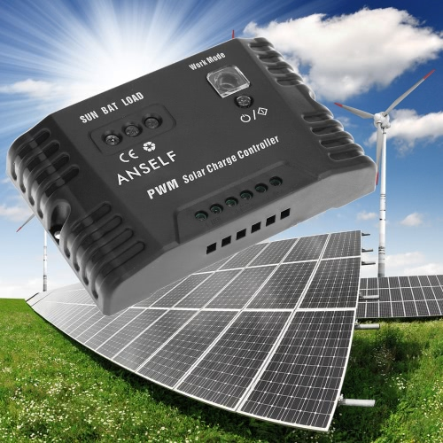 Anself 20A 12/24V Intelligent Automatic Solar Charge Controller Panel Battery Regulator Temperature CompensationHome &amp; Garden<br>Anself 20A 12/24V Intelligent Automatic Solar Charge Controller Panel Battery Regulator Temperature Compensation<br>