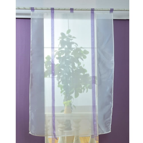 Anself 80*140cm Pastoral Voile Curtains Tab Top Tulle Sheer Curtain Roman Blinds for Bedroom Door Window DecorationHome &amp; Garden<br>Anself 80*140cm Pastoral Voile Curtains Tab Top Tulle Sheer Curtain Roman Blinds for Bedroom Door Window Decoration<br>