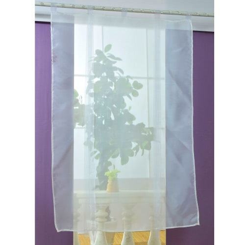 Anself 140*140cm Pastoral Voile Curtains Tab Top Tulle Sheer Curtain Roman Blinds for Bedroom Door Window DecorationHome &amp; Garden<br>Anself 140*140cm Pastoral Voile Curtains Tab Top Tulle Sheer Curtain Roman Blinds for Bedroom Door Window Decoration<br>