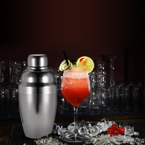 4PCS Stainless Steel Cocktail Shaker Mixer Set with Strainer Pour Spot Jigger Drink Bartender Kit Home Bar ToolHome &amp; Garden<br>4PCS Stainless Steel Cocktail Shaker Mixer Set with Strainer Pour Spot Jigger Drink Bartender Kit Home Bar Tool<br>