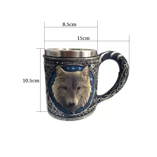 Hot Unique Cool Creative Novelty Resin Stainless Steel Liner Creepy 3D Coffee Beer Milk Mug Cup Tankard Drinkware for Decoration GHome &amp; Garden<br>Hot Unique Cool Creative Novelty Resin Stainless Steel Liner Creepy 3D Coffee Beer Milk Mug Cup Tankard Drinkware for Decoration G<br>
