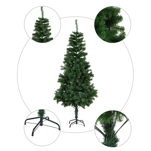 Festnight 6 High Quality Artificial PVC Christmas Pine Tree Spruce Hinged With Solid Metal Stand 800 Tips Full Tree Best Choice PHome &amp; Garden<br>Festnight 6 High Quality Artificial PVC Christmas Pine Tree Spruce Hinged With Solid Metal Stand 800 Tips Full Tree Best Choice P<br>