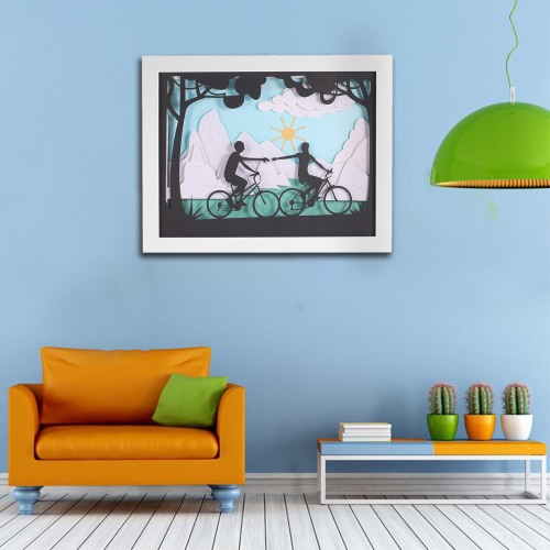 Modern 3D Decorative Painting with Frame Delicate Paper Engraving Picture Wall Living Room Home Decor Decoration 24*30cmHome &amp; Garden<br>Modern 3D Decorative Painting with Frame Delicate Paper Engraving Picture Wall Living Room Home Decor Decoration 24*30cm<br>