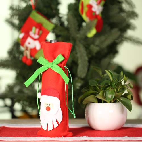 Festnight 1PC Red Wine Bottle Cover Bag Christmas Dinner Table Decoration Home Party Decor Santa ClausHome &amp; Garden<br>Festnight 1PC Red Wine Bottle Cover Bag Christmas Dinner Table Decoration Home Party Decor Santa Claus<br>