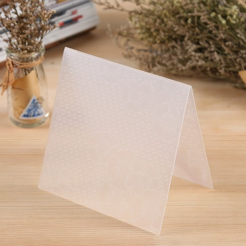 Plastic Embossing Folder for Scrapbook DIY Album Paper Card Tool Template 15.5x15.5cm / 6x6inchHome &amp; Garden<br>Plastic Embossing Folder for Scrapbook DIY Album Paper Card Tool Template 15.5x15.5cm / 6x6inch<br>