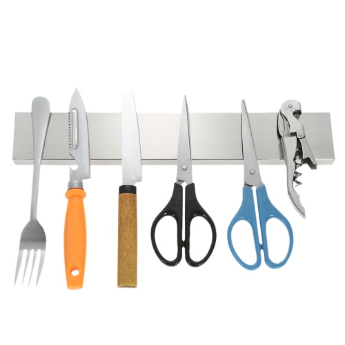 30cm Multi-purpose High Quality Stainless Steel Magnetic Knife Bar Strip Holder Kitchen Tool OrganizerHome &amp; Garden<br>30cm Multi-purpose High Quality Stainless Steel Magnetic Knife Bar Strip Holder Kitchen Tool Organizer<br>