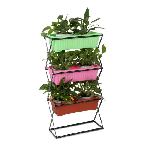 iKayaa 3/4 Tier Metal Folding Plant Stand Garden Planter Flower Pot Stand Display Shelf 19.5KG/26KG CapacityHome &amp; Garden<br>iKayaa 3/4 Tier Metal Folding Plant Stand Garden Planter Flower Pot Stand Display Shelf 19.5KG/26KG Capacity<br>