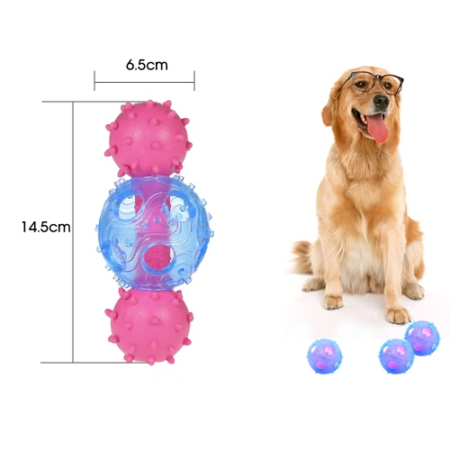 Cute Color Small Interactive IQ Pet Dog Treat Barbell Ball Toy with Bell Dog Teeth Cleaning Chew Toy Toxic Free Safe Dog EntertainHome &amp; Garden<br>Cute Color Small Interactive IQ Pet Dog Treat Barbell Ball Toy with Bell Dog Teeth Cleaning Chew Toy Toxic Free Safe Dog Entertain<br>