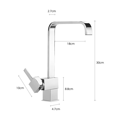 High-end 360° Rotating Single Handle Deck-mounted Kitchen Sink Bathroom Basin Faucet Vessel Sink Basin Hot and Cold Water Mixer TaHome &amp; Garden<br>High-end 360° Rotating Single Handle Deck-mounted Kitchen Sink Bathroom Basin Faucet Vessel Sink Basin Hot and Cold Water Mixer Ta<br>
